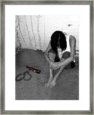 Can't Drink You Off My Mind Framed Print by Kristie  Bonnewell