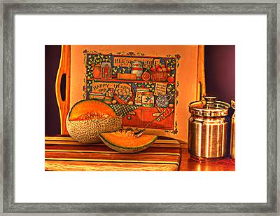 Canteloupe Framed Print by Regina  Williams