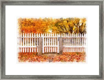 Canterbury Shaker Village Picket Fence  Framed Print by Edward Fielding