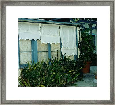 Canvas 'n Lace Framed Print by Barbara Royer