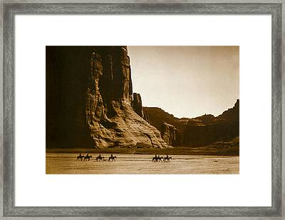 Canyon De Chelly Circa 1904 Framed Print by Aged Pixel