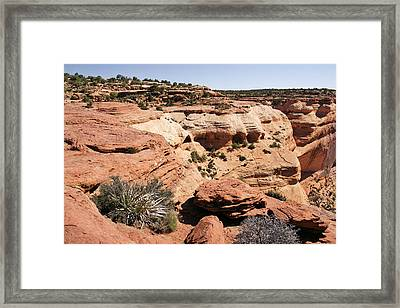 Canyon De Chelly - Land Of Standing Rock Framed Print by Christine Till