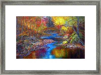 Canyon River Framed Print by LaVonne Hand
