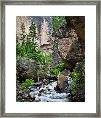 Canyon Serenity - Crazy Woman Creek - Crazy Woman Canyon - Johnson County - Wyoming Framed Print by Diane Mintle