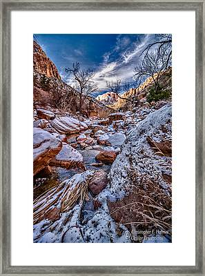 Canyon Stream Winterized Framed Print by Christopher Holmes