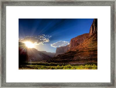 Canyon Sunset Framed Print by William Wetmore