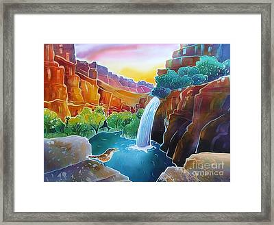 Canyon Waterfall Framed Print by Harriet Peck Taylor