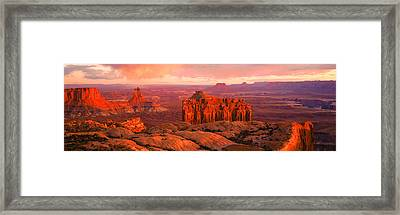 Canyonlands National Park Ut Usa Framed Print by Panoramic Images