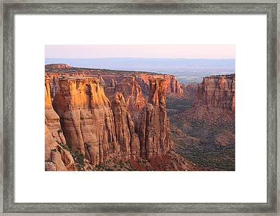 Canyons And Monoliths Framed Print by Eric Glaser