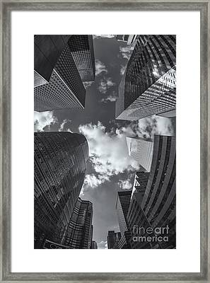 Canyons Of New York II Framed Print by Clarence Holmes