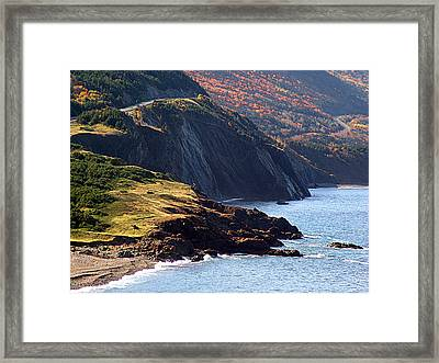 Cap Rouge In Autumn Framed Print by Janet Ashworth