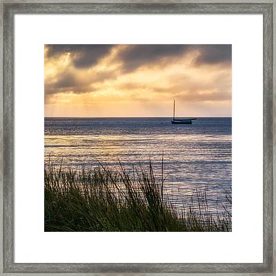 Cape Cod Bay Square Framed Print by Bill Wakeley