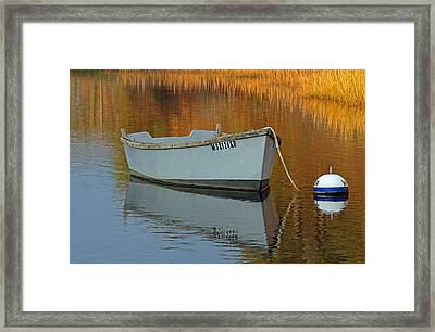 Cape Cod Harbor Dinghy Framed Print by Juergen Roth