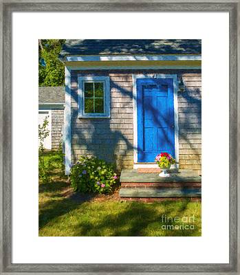 Cape Cod House Framed Print by Diane Diederich