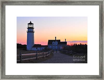 Cape Cod Light Framed Print by Catherine Reusch  Daley