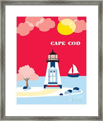 Cape Cod Maine Skyline Framed Print by Karen Young
