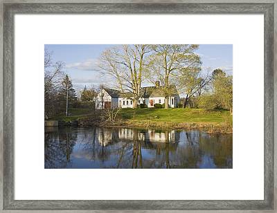 Cape Cod Style House Bristol Maine Framed Print by Keith Webber Jr