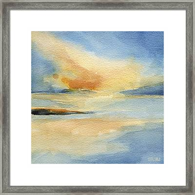Cape Cod Sunset Seascape Painting Framed Print by Beverly Brown Prints