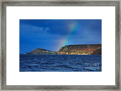 Cape Cornwall Framed Print by Louise Heusinkveld