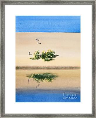 Cape Dune Watercolor Framed Print by Michelle Wiarda