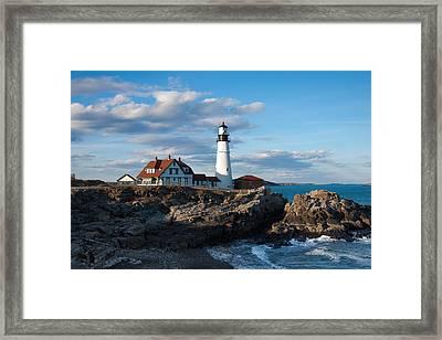 Cape Elizabeth Lighthouse Framed Print by Will Gunadi