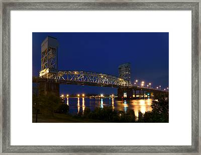 Cape Fear Memorial Bridge 2 - North Carolina Framed Print by Mike McGlothlen