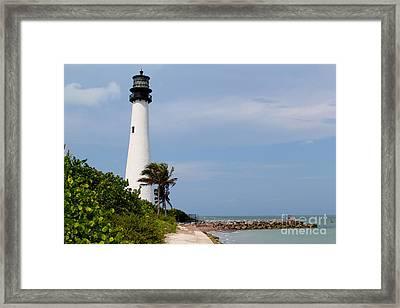 Cape Florida Beach Framed Print by Carey Chen