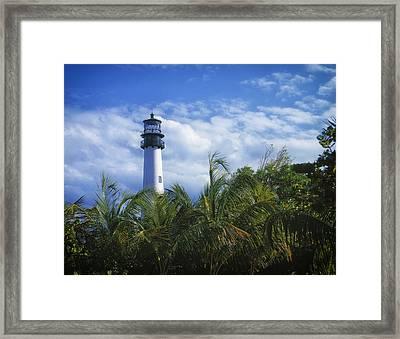 Cape Florida Light Framed Print by Mountain Dreams