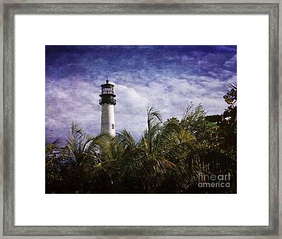 Cape Florida  Lighthouse  Framed Print by Heinz G Mielke