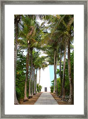 Cape Florida Walkway Framed Print by Carey Chen