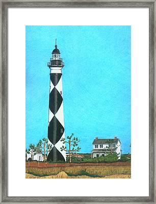 Cape Lookout Lighthouse Framed Print by Karen Rhodes