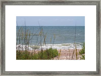 Cape Lookout National Seashore 2 Framed Print by Cathy Lindsey