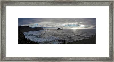 Cape Mears Storms Framed Print by Mike Reid