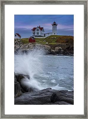 Cape Neddick Dusk Framed Print by Rick Berk