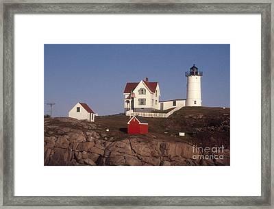 Cape Neddick Lighthouse Framed Print by Bruce Roberts