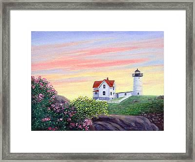 Cape Neddick Sunrise Framed Print by Fran Brooks