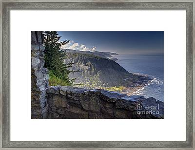 Cape Perpetua Lookout Framed Print by Mark Kiver