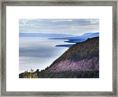 Cape Smokey Lookout Framed Print by Janet Ashworth