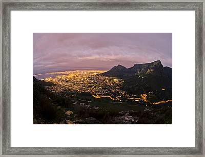 Cape Town Nights Framed Print by Aaron S Bedell
