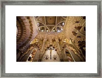 Capilla De Villaviciosa In The Great Mosque Of Cordoba Framed Print by Artur Bogacki