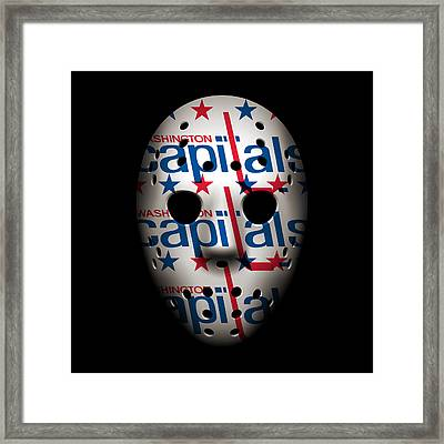 Capitals Goalie Mask Framed Print by Joe Hamilton