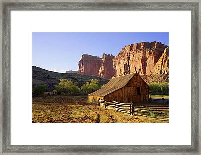 Capitol Barn Framed Print by Chad Dutson