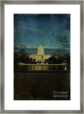 Capitol Blues Framed Print by Terry Rowe
