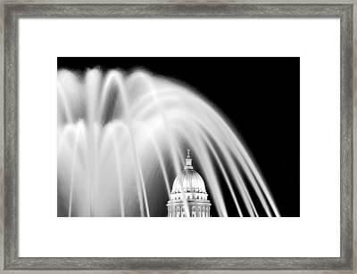Capitol Fountain Framed Print by Todd Klassy