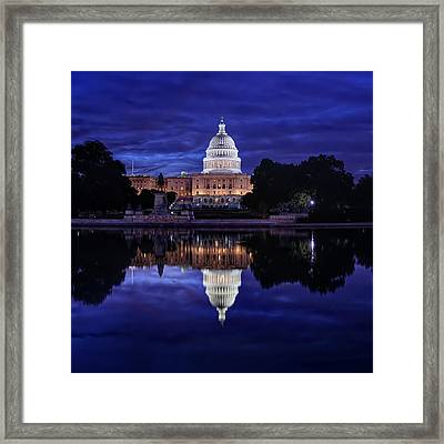 Capitol Morning Framed Print by Metro DC Photography