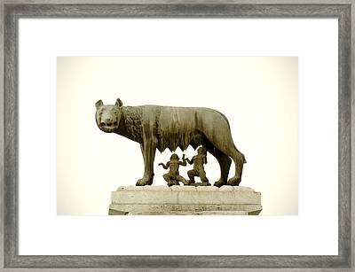 Capitoline She-wolf Framed Print by Fabrizio Troiani