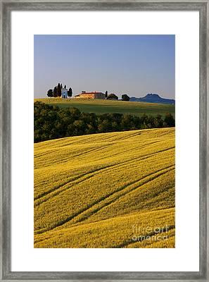 Cappelle Di Vitaleta Framed Print by Brian Jannsen