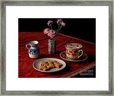 Cappuccino Coffee Framed Print by Donald Davis