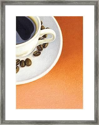 Cappuccino Framed Print by Natasha Denger