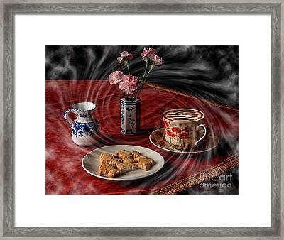 Cappuccino Vortex Framed Print by Donald Davis
